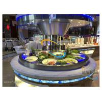 Buy cheap Blue Led Display Restaurant Buffet Counter / Commercial Buffet Serving Tables from wholesalers