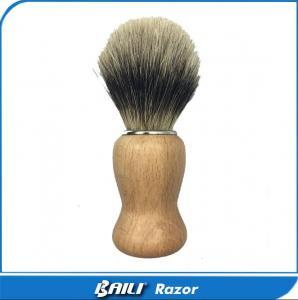 Quality 60mm Hair Height Shaving Care Normal Badger Black Hair Shaving Brush Wood Handle for sale
