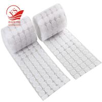 Quality Nylon And Polyester Hook Loop Self Adhesive Dots / Hook Loop Loop Tape For Hat for sale