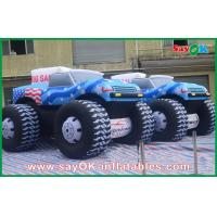 China Blue 5M Inflatable Jeep Car 210D Oxford Cloth For Adversting on sale