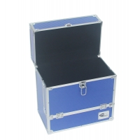 Quality Lightweight carry case blue ABS carrying box for DVD and accessories for sale