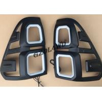 China Black 4x4 Body Kits / Car Tail Light Cover With LED For Toyota Hilux Revo Sr5 15 - 17 on sale