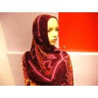 Quality Fashion Floral Burnt-out Silk Hijab Scarf for sale