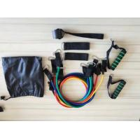China 11 Pieces Fitness Latex Resistance Tube Bands Set on sale