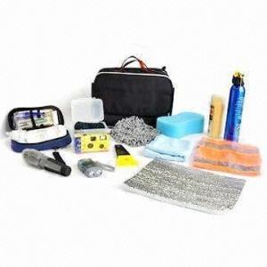 Quality Car emergency kit/car tool kit/car clean kit, includes 1 piece flashlight for sale