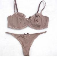 Quality Spandex / Nylon / Cotton Customized Fashionable Health ODM Matching Bra And Underwear Sets for sale