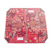 Battery Chargers Power Supply PCB & PCBA 4 Layers FR 4 Red Soldmask