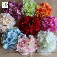 China UVG FBL01 white artificial flower heads in silk hydrangeas for wedding backdrop decoration on sale