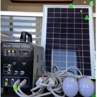 Quality Portable Solar generator 10w Good for area short electricity for sale