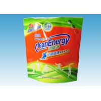 Quality Custom Printed Stand Up Pouches , washing powder packaging bags With Three Handles for sale