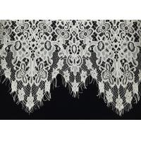"""Buy cheap Off White Scalloped Edge Soft Raschel Eyelash Lace Trim 1.5 Meters Length 60"""" from wholesalers"""