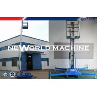 Quality Blue Aluminium Alloy 20m 200kg Electric Small Home Lift Mast Climbing Aerial Work Platform for sale
