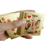 China PVC Material 24K Gold Playing Cards Poker Game Deck Gold Foil Poker Set on sale
