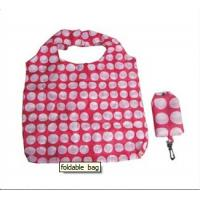 China Custom Reusable Foldable Shopping Bags made of polyester with key buckle on sale