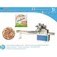Quality Frozen pizza semi-finished cheese pizza, Naples pizza automatic plastic film flow packaging for sale