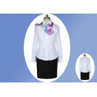 Quality White Fabric Professional Work Uniforms 100% Polyester Cotton With Single Breasted for sale