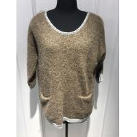 Buy cheap Plush Hand Feel Oversized Knit Sweaters Pullover With Wool Nylon Alpaca Material from wholesalers