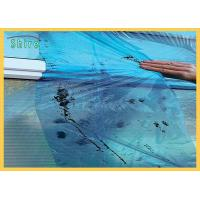 China Blue Glass Temporary Protection Film With Solvent Based Adhesive on sale