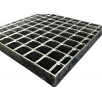 China Durable Hot Dipped Galvanized Grating , Flush Top Railroad Heavy Duty Steel Grating on sale