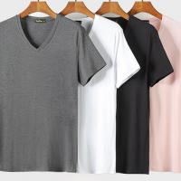 China Sports Style Organic Bamboo T Shirt For Male OEM Service Multi Color on sale