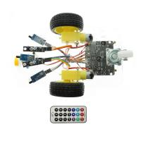 Quality 7V-12V Arduino Car Robot Kit Line Tracking Fire Fighting Infrared Remote Control for sale