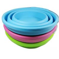 Buy FDA Silicone Rubber Products collapsible silicone bucket with handle camping at wholesale prices