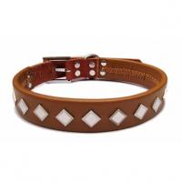 China 2012 wholesale real leather dog collar, collar for dog on sale
