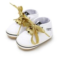 China New designed Canvas sport Rubber sole 0-2 years baby prewalker shoes for baby on sale