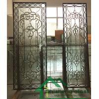China 2019 new designs of decorative glass for wood doors with patina came 80*30,Thickness 1 on sale