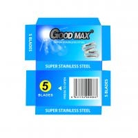 China Goodmax Double Edge Stainless Steel Blades , Silver Men'S Shaving Razor Blades on sale