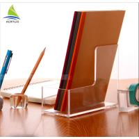 Quality clear Acrylic Brochure Holders Brochure Pockets Magazine And Book Shelves for sale