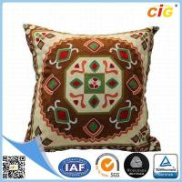 Quality Washable Home Decorative Throw Pillow Covers for Sofa or Bed Red / Dark Brown / Buff / Gray for sale
