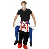 Quality Men Halloween Sinister Clown Piggy Back Animal Mascot Costumes for sale