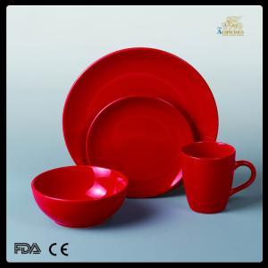 China hot sale ceramic cookware 16pcs color-glazed dinnerware set on sale