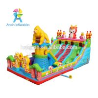 Quality Large Outdoor gorilla design Kids Funland Inflatable Sports Games Inflatable Fun City for sale