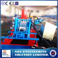 China Automatic Light duty rack roll forming machine,Storage rack and shelf keel roll forming machine,Control System:Mitsubish on sale