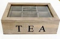 China Custom design 6 compartments wooden tea bag box with lid on sale
