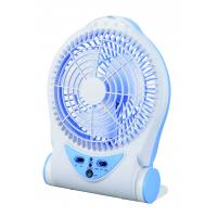 Buy cheap Blue Rechargeable Battery Operated Table Fan , Portable Charging Fan product