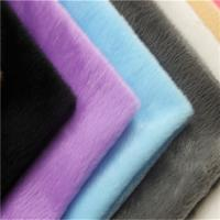 Quality Soft Sherpa Fur Fabric Weft Knitted Fabric 350gsm~550gsm For Blanket for sale
