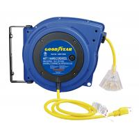Buy cheap LED Lighted Connector Goodyear Retractable Air Hose Reel With Double Adjustment Function product