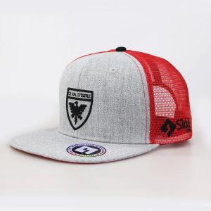 Quality Sports Type 6 Panel Trucker Cap , Customized Sticker Mens Snapback Trucker Hats for sale