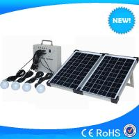 China 20w small solar system with 4pcs 3w led light, mini solar system for sale on sale
