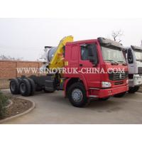Quality Reliable Truck Mounted Hoist / LHD 336HP Lorry Mounted Crane For Goods Lift for sale