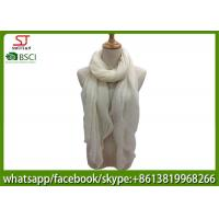 Quality China factory direct supply crinkle white wrinkle spring summer thin scarf100*180cm 100% Polyester pashmina keep fashion for sale