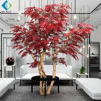 Red Leaf Artificial Maple Tree For Garden Zen Ornament 3m Height Customized for sale