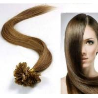 Quality Female Brown U - Tip 100% Remy People Pre Bonded Hair Extension for sale