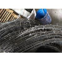 China Barbed Tape Concertina Gaucho Barbed Wire Prison High Security Spiral Barbed Wire Fence on sale