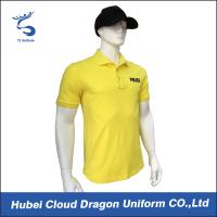 Quality Long Fiber Cotton Yellow Security Shirt For Tactical / Police Duty , Styles Customized for sale