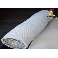Buy cheap Flame Resistant 4 Inch Insulated Flexible Duct Aluminum PVC Compressible product