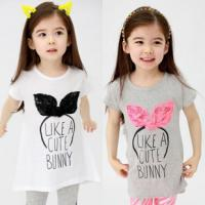 China 2014 Baby girls short T-shirts cute pattern cotton T-shirts wholesale Children's T-shirts on sale